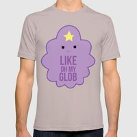Like OH MY GLOB. Mens Fitted Tee Cinder SMALL
