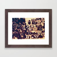I Love Analogue Photogra… Framed Art Print