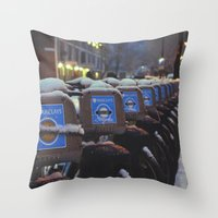 London Snow Throw Pillow