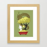 Bonsai Bunny Framed Art Print