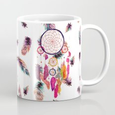 Hipster Watercolor Dreamcatcher Feathers Pattern  Mug