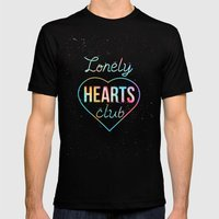 Lonely hearts club Mens Fitted Tee Black SMALL