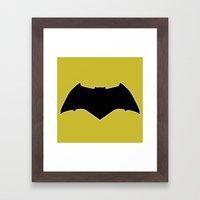 Dawn Of Justice : Bat Sy… Framed Art Print