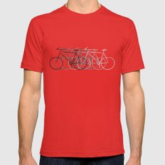Just bike Mens Fitted Tee Red SMALL