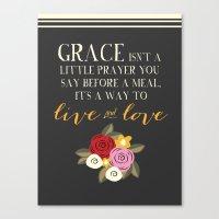 Live GraceFULLY Canvas Print