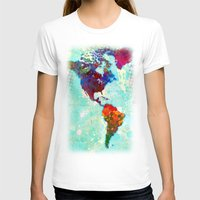 map T-shirts featuring Abstract Watercolor World Map by Gary Grayson