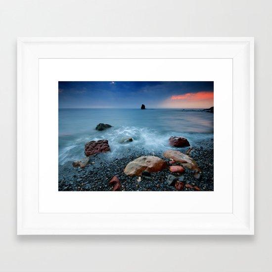 Saltwick Bay Framed Art Print
