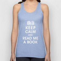 Keep Calm and Read Me A Book Unisex Tank Top