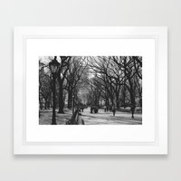 Oh, Central Park Framed Art Print