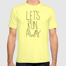 Let's Run Away VI Mens Fitted Tee Lemon SMALL