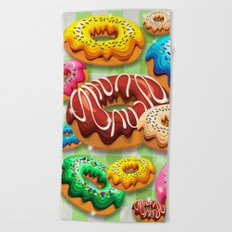 Donuts Party Time Beach Towel