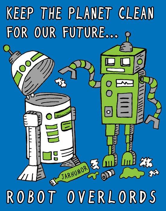 Robot Earth Art Print