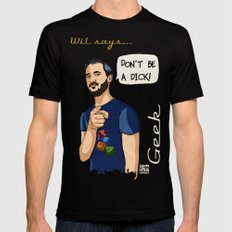 Wil says... Black SMALL Mens Fitted Tee