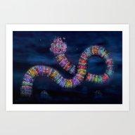The Rainbowhouse ! Art Print