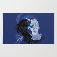 Starwars with Unicorns  Rug