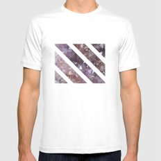 IPHONE: StripedSquareGEO Mens Fitted Tee SMALL White