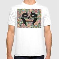 The Black smiles SMALL Mens Fitted Tee White