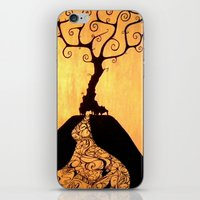 She's Black Against The … iPhone & iPod Skin
