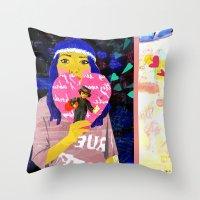 Cupid Waiting List Throw Pillow