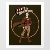 Captain Tightpants Art Print