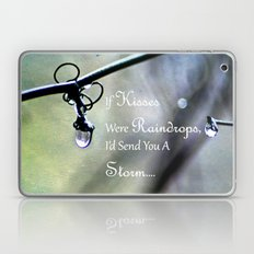 If Kisses Were Raindrops... Laptop & iPad Skin