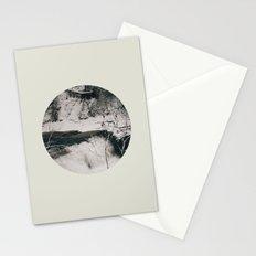 Winter Falls Circular Stationery Cards