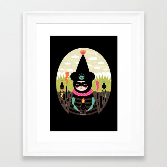 Mimu & The Fireboy Framed Art Print