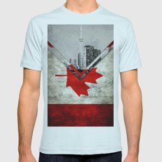 Flags - Canada Mens Fitted Tee Light Blue SMALL
