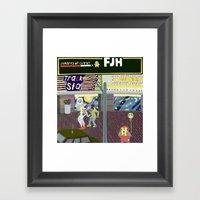 FJH ✮ Streets Of Cuzzy… Framed Art Print