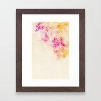 girly pink orange galaxy Framed Art Print