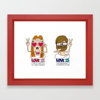 LOVEISPEACE&FREEDOM Framed Art Print