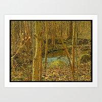 Gold Woodlands Art Print