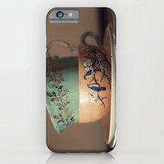 Golden Leaves Teacup iPhone 6 Slim Case