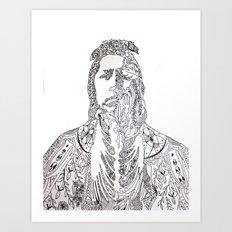 motifs of a portrait Art Print