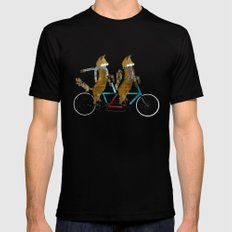 fox days lets tandem SMALL Black Mens Fitted Tee