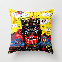 Bright Magic Day Throw Pillow