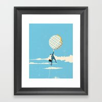 Keeping a check on travel expenses Framed Art Print