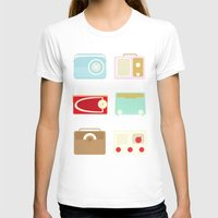 Radios Womens Fitted Tee White SMALL
