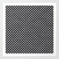 Polka Dots Walls Art Print