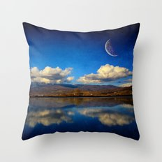 Epic Autumn Blues  Throw Pillow
