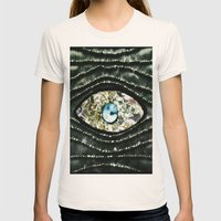 Evil Eye Womens Fitted Tee Natural SMALL