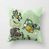 9 Lives - Game Over Throw Pillow