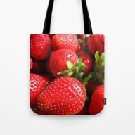 Abstract Strawberry Art Tote Bag