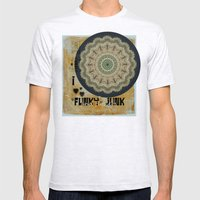 I Heart Funky Junk And F… Mens Fitted Tee Ash Grey SMALL