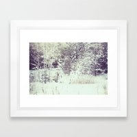winter forest Framed Art Print