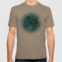 Blue retro abstract Mens Fitted Tee Tri-Coffee SMALL