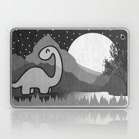 Dinosaur at midnight Laptop & iPad Skin
