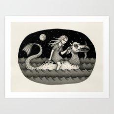 She Traveled By Sea Drag… Art Print
