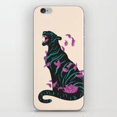 Black tiger iPhone & iPod Skin