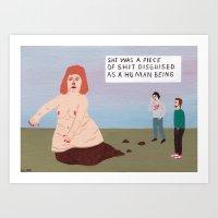 I knew a Girl.... Art Print